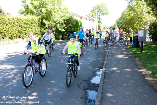Cyclists in the 2011 Family Cycle Ride. Photo: JLC Photography Ltd