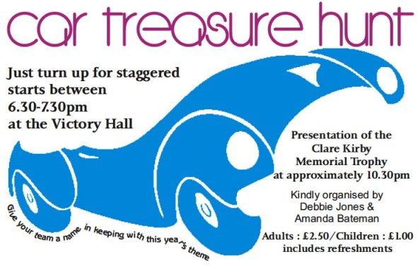 2012 Car Treasure Hunt on 19th June