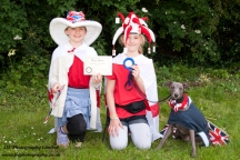Fancy Dress dog and owners. Photo: JLC Photography Ltd