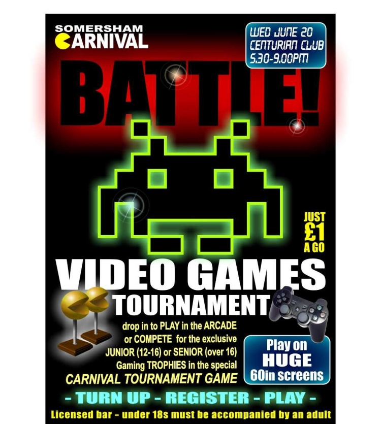 Somersham Carnival Video Games Tournament poster