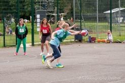 Women playing netball in Somersham
