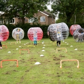 Assault course in inflatable balls