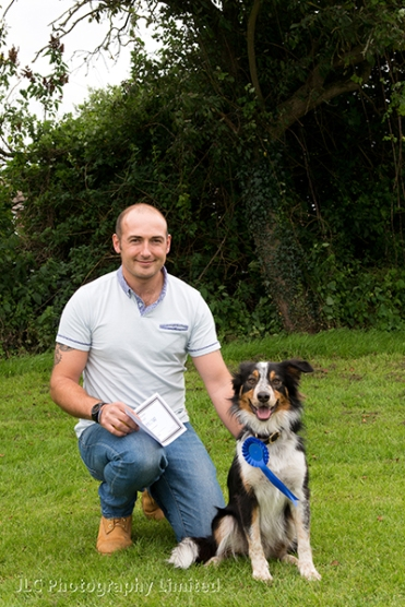 A rosette winner with owner at the 2014 Novelty Dog Show. Photo: JLC Photography Ltd.