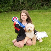 Young girl with dog at Somersham novelty dog show