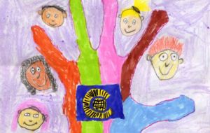 The Commonwealth Hand of Friendship Flag by Molly Mann - the winning entry in our Design A Flag competition.